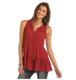 Rock and Roll Cowgirl RRCG Tank Red