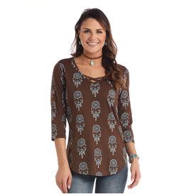 Panhandle Panhandle Ladies 3/4 Sleeve Brown