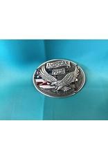 American Pride Eagle Belt Buckle Silver