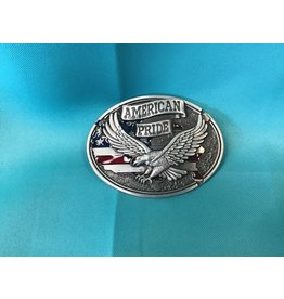 American Pride Eagle Belt Buckle Silver