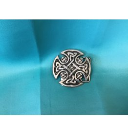 Irish Celtic Circle Knot Belt Buckle