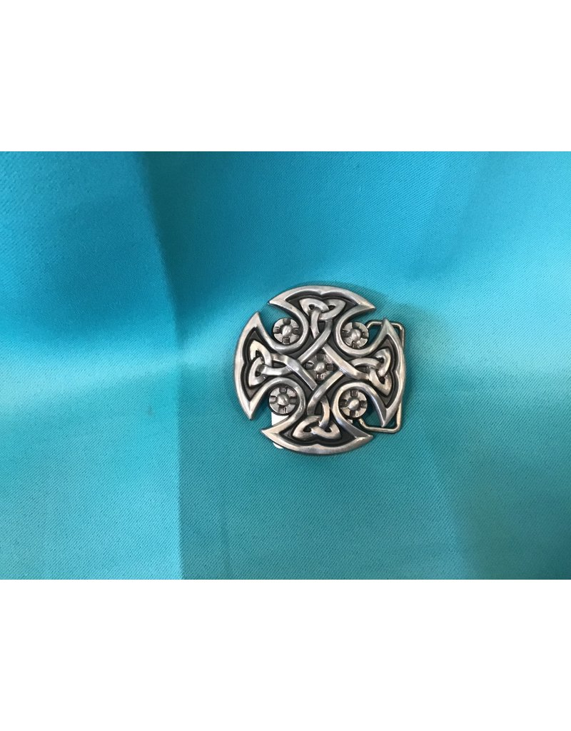 Irish Celtic Circle Knot Belt Buckle