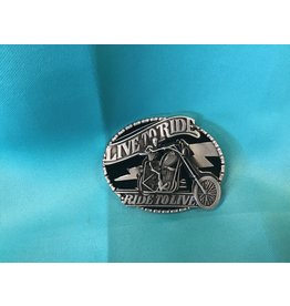 Live To Ride Biker Belt Buckle