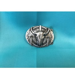 Longhorn Bull Belt Buckle