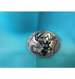 Western Deer Hunting Belt Buckle