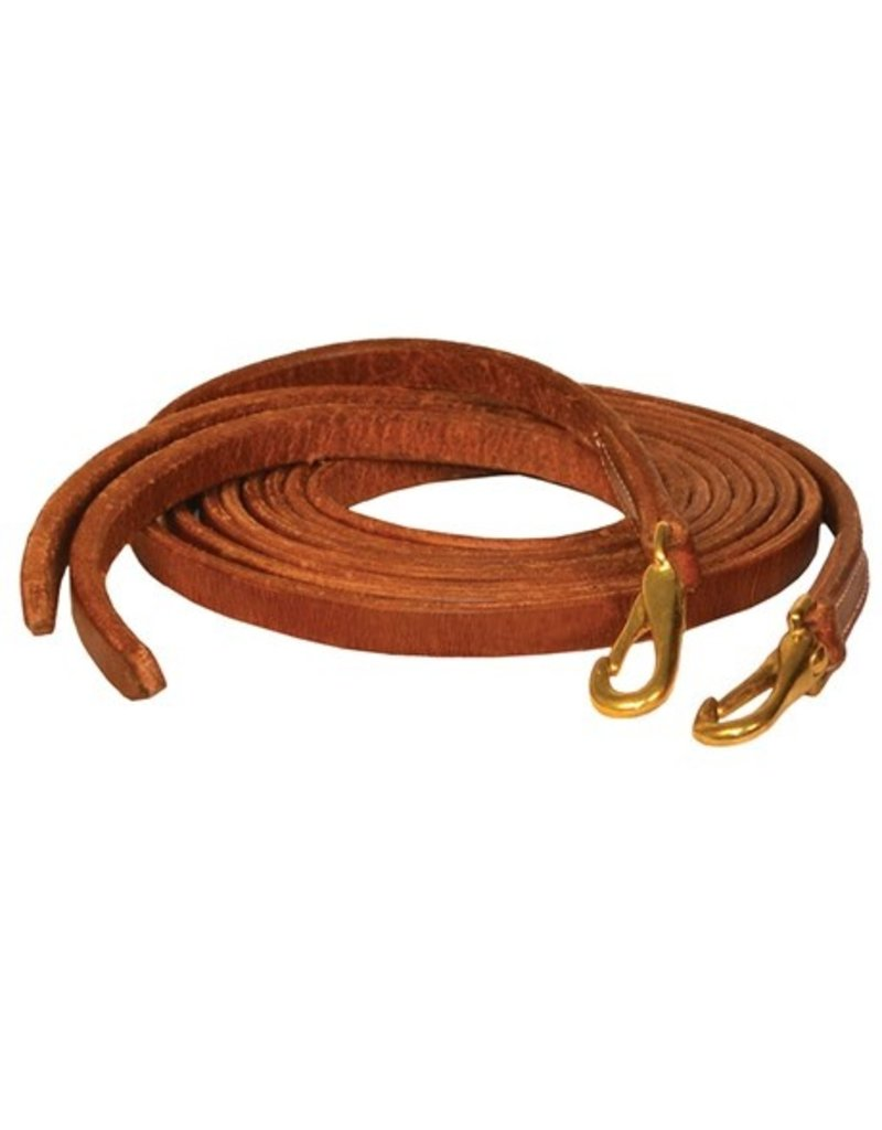 Perri's Western Leather Reins Snap End 8'