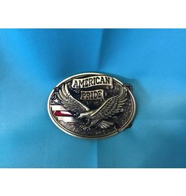 American Pride Eagle Belt Buckle Bronze