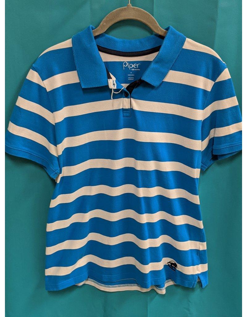 Smartpak Piper Polo White/Blue XL