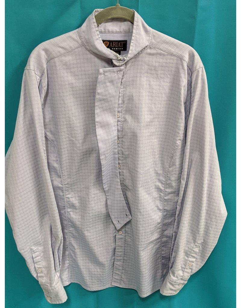 Ariat Ariat Show Shirt Light Blue Plaid 42