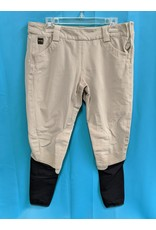 FITS FITS Side Zip Kneepatch Breeches Tan XL