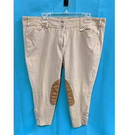 George H Morris GHM Kneepatch Breeches Tan 36