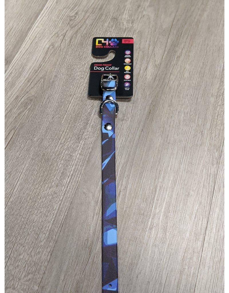 C4 Rocky Camo Blue Dog Collar Small