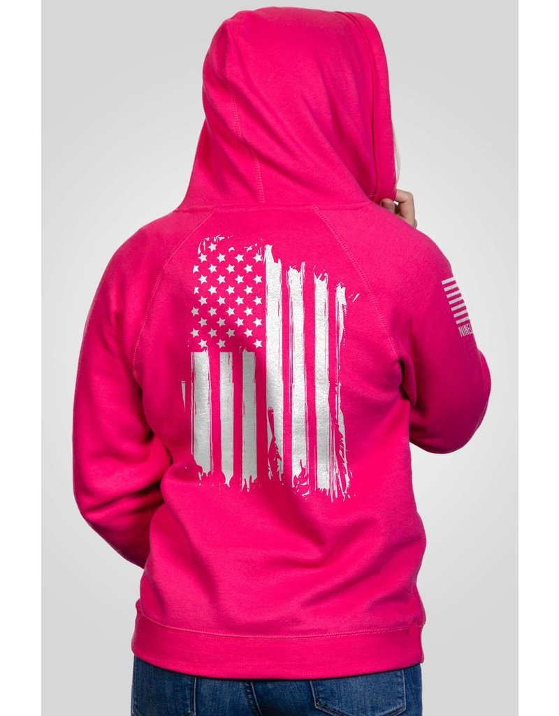 Nine Line Apparel Ladies V-Neck America Hoodie