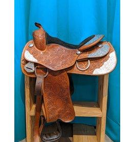 "Western Pleasure Show Saddle 15"" Seat SQHB"