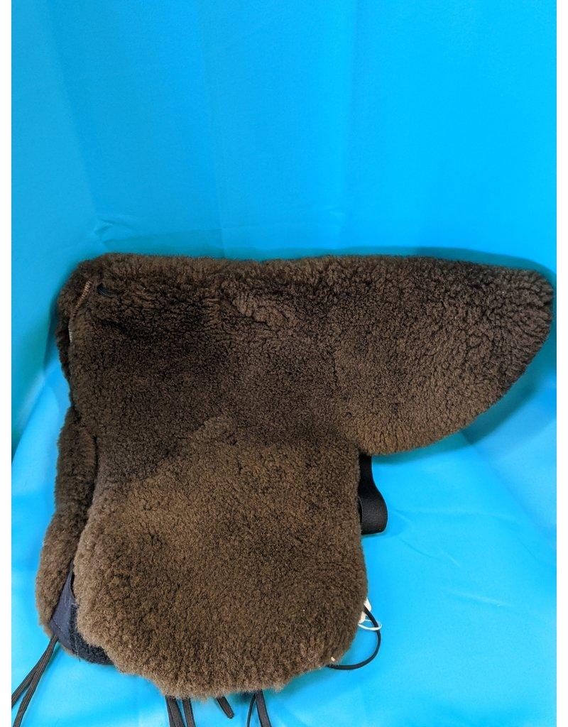Shear Comfort Sheepskin Saddle Cover Brown