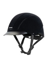Troxel Capriole  Black Velveteen Helmet Large