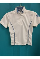 Riding Sport SS Shirt White/Blue XS