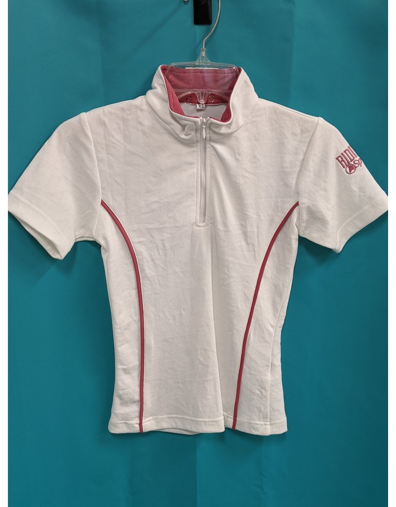 Riding Sport SS Shirt White/Pink XS