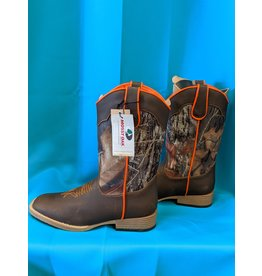 Dbl Barrel Dbl Barrel Orange/Camo Boots Youth 3.5