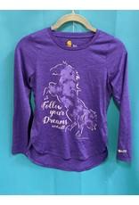Carhart Purple Horse Shirt Kids M