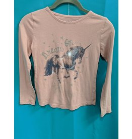 Blush Horse Shirt Kids M