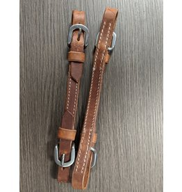 Double Hook Western Curb Leather