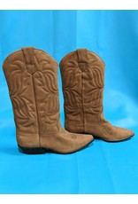 Brown Pointed Toe Western Boots 8