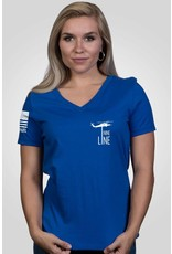 Nine Line Apparel Women's Relaxed Fit V-Neck The Pledge