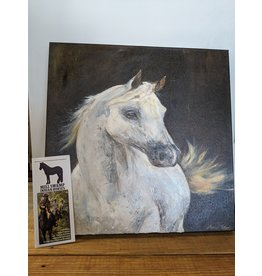 White Horse Oil Painting Original