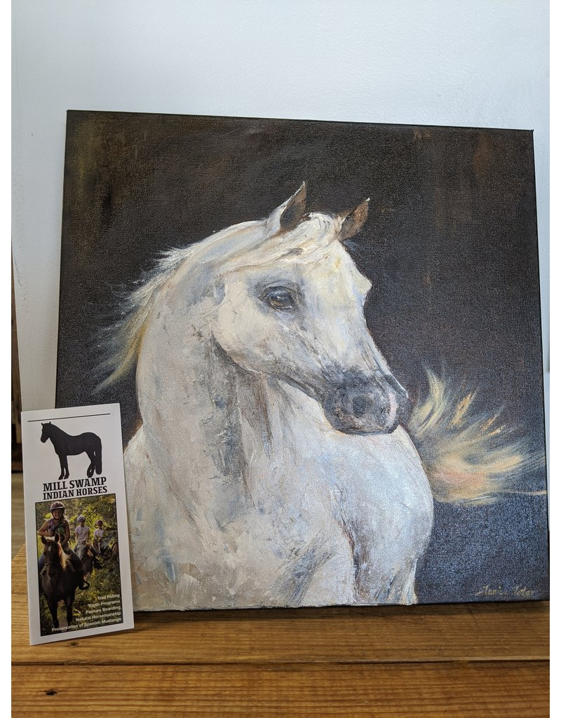 White Horse Oil Painting Original