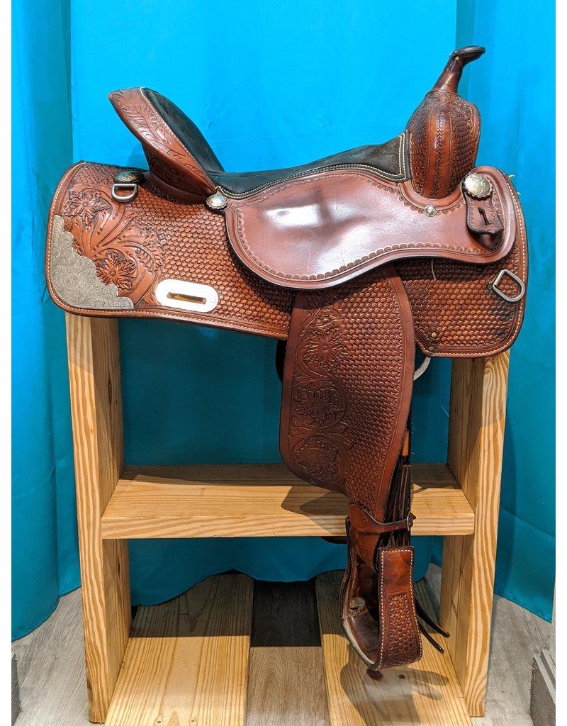 "16"" FQHB Silver Royal Saddle"