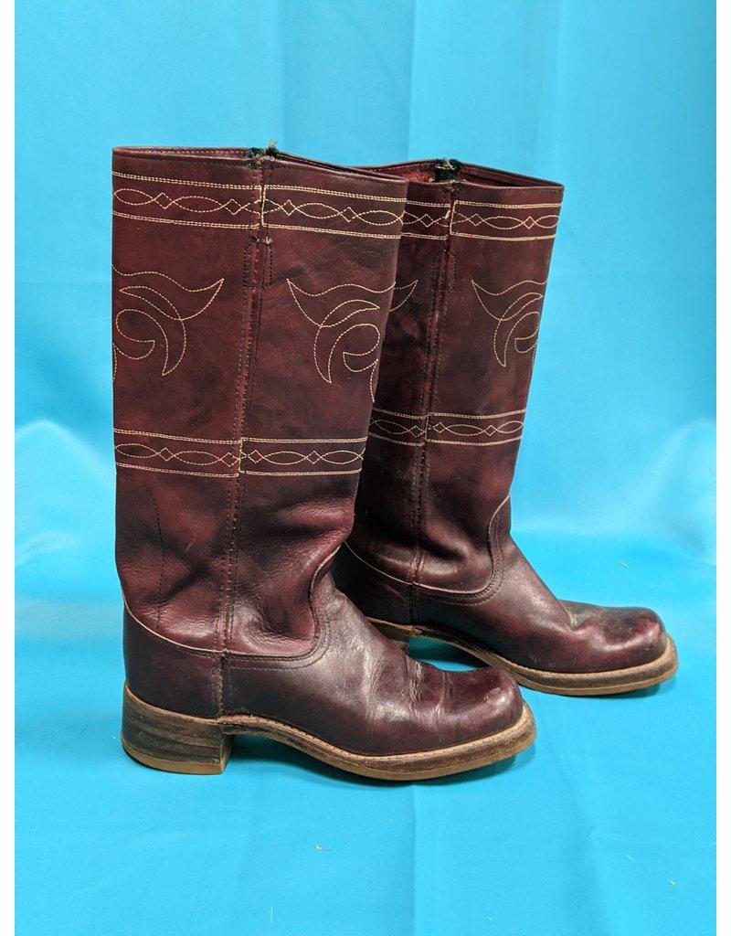 Vintage Red Western Stitch Boots