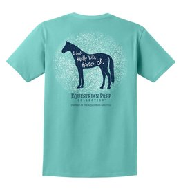 Equestrian Prep I Just Really Like Horses Adult Short Sleeve