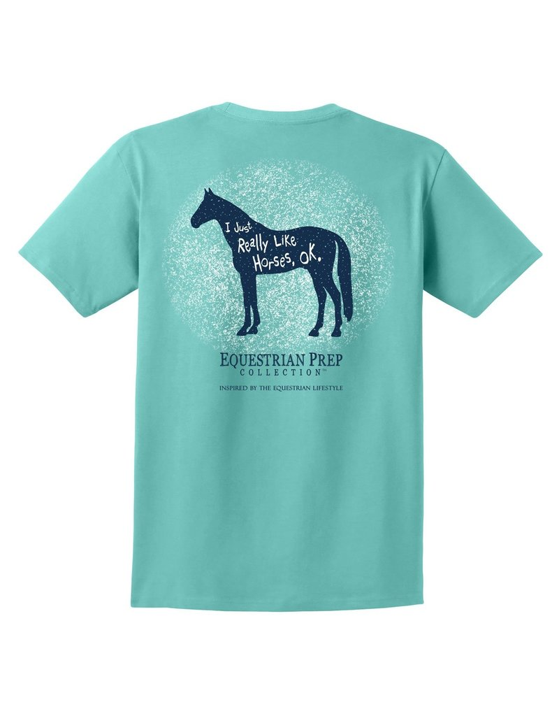 Equestrian Prep I Just Really Like Horses Adult Short Sleeve