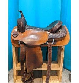 """17"""" FQHB Dakota 101 Cutting Saddle w/ Breast Collar and Rear Cinch"""