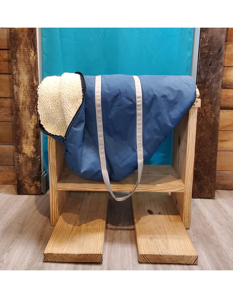 Saddle bag English Navy