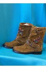 Frye Embroidered Mid Calf Boots 7.5 NWOT