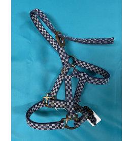 Blue and Gray Checkered Small Pony/Mini Halter