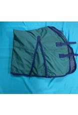 """Green w/Blue Trim Lightweight Blanket 76"""""""