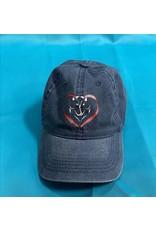 Blue Heart Horse Baseball Cap