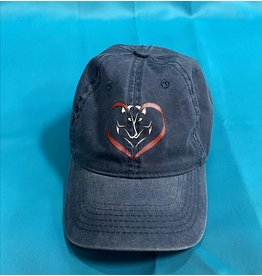 Blue Heart Horse Baseball Cap