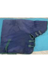 "Weatherbeeta 75"" Hooded Weathabeeta med/heavy weight, blue w/green trim"