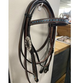 Circle J Tooled Headstall/Reins/BC - Saddle Match