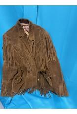 Ms. Pioneer Vintage Suede Fringe Jacket