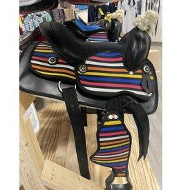 Cordura Pony Saddle w/stripes