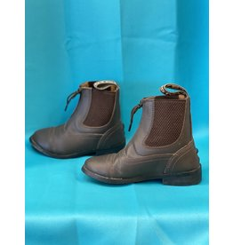 Child Sz 10 Paddock Boots Brown Leather