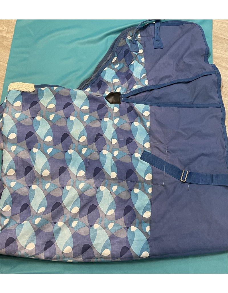"Weatherbeeta 78"" Weatherbeeta Med Weight Blanket Blue & White"