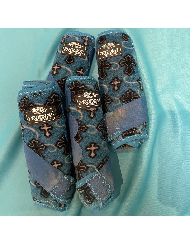 Weaver Weaver Prodigy Large Sport Boots (4) Blue w/blue&black Crosses