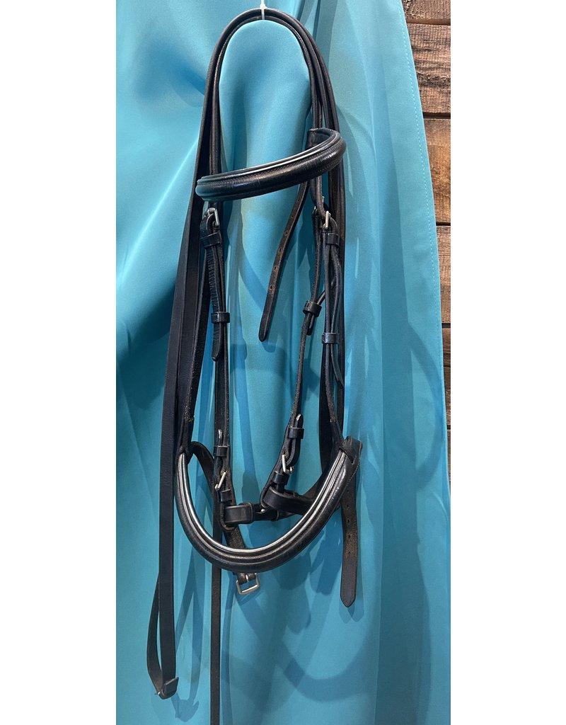 Black Leather Bridle w/reins