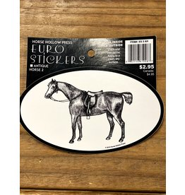 Horse Hollow Press Antique Horse 2 Sticker